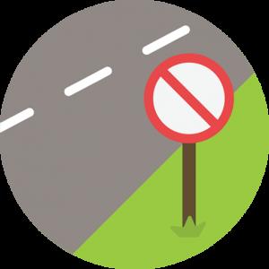Prohibido carretera